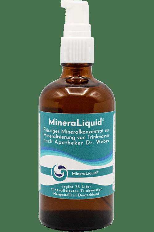 Flüssiges Mineralkonzentrat in Glasverpackung