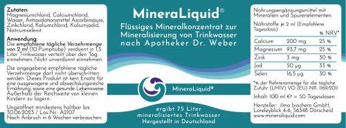 MineraLiquid Inhaltsstoffe Mineralien